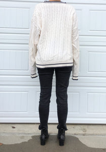 Vintage Oversized Varsity Sweater - XL