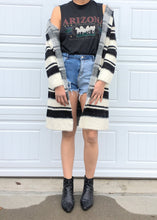 Load image into Gallery viewer, Stripey Hooded Cardigan - Medium