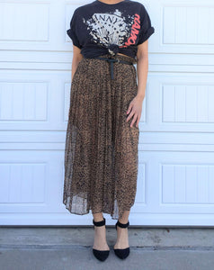 Sheer Leopard Skirt - Small