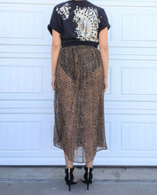 Load image into Gallery viewer, Sheer Leopard Skirt - Small
