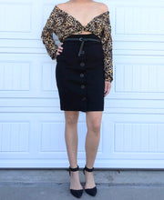 Load image into Gallery viewer, Sheer Leopard Blouse - M/L