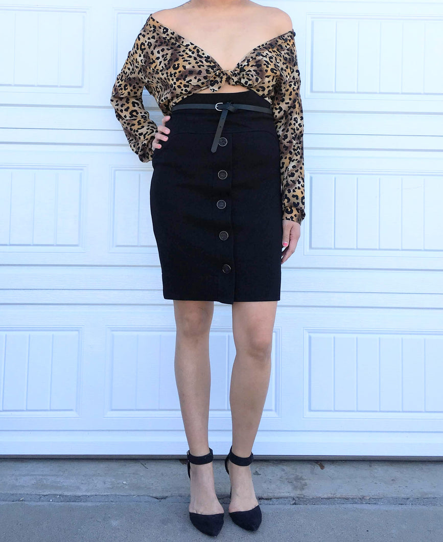 Sheer Leopard Blouse - M/L