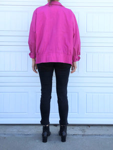 80s Pink Windbreak - Medium