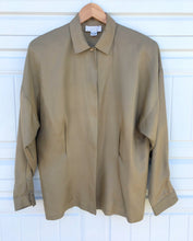 Load image into Gallery viewer, Olive Silk Blouse - M/L