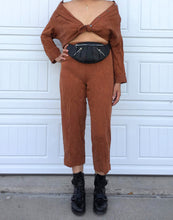 Load image into Gallery viewer, Camel Cropped Pant Set - Medium