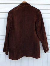 Load image into Gallery viewer, Brown Suede Leather Jacket - Medium