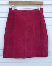 Load image into Gallery viewer, Hot Pink Suede Skirt - Size 28