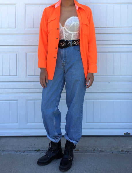 Neon Orange Shirt - Large