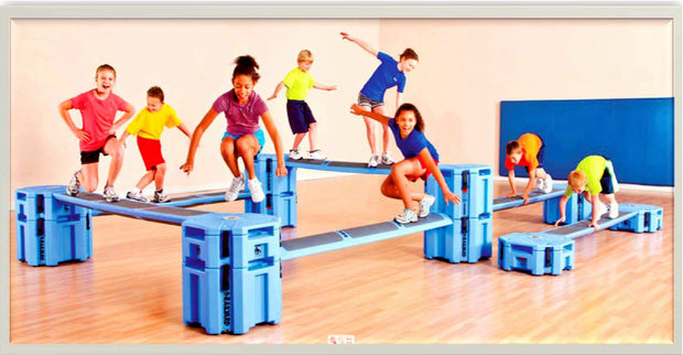 Obstacle Course for Kids is portable, fun, and functional. You can select or create an obstacle course package that fits your needs.