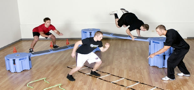 Railyard Obstacle Course exercise course for youth sports conditioning