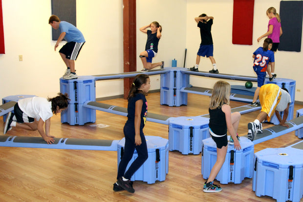 Railyard Obstacle Course for youth physical education