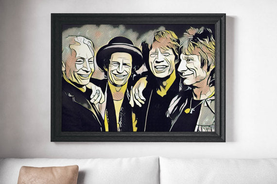 Rolling Stones Painting Poster Art Painting Print