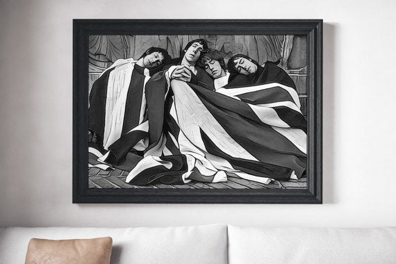 The Who Poster UK Flag Poster Art Painting Print