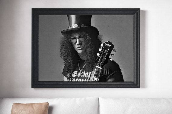 Guns n Roses Poster Slash Art Painting Print