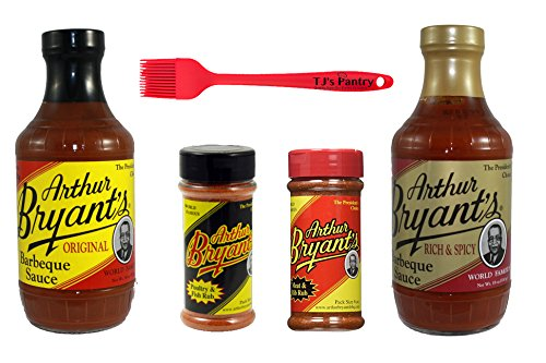 Arthur Bryants BBQ Sauce and Dry Rub Variety Bundle - 4 Pack + Bonus TJs Pantry Silicone Basting : Gateway