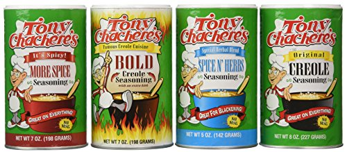 Tony Chachere Seasoning Blends, Variety Pack, 4 Count : Grocery & Gourmet Food