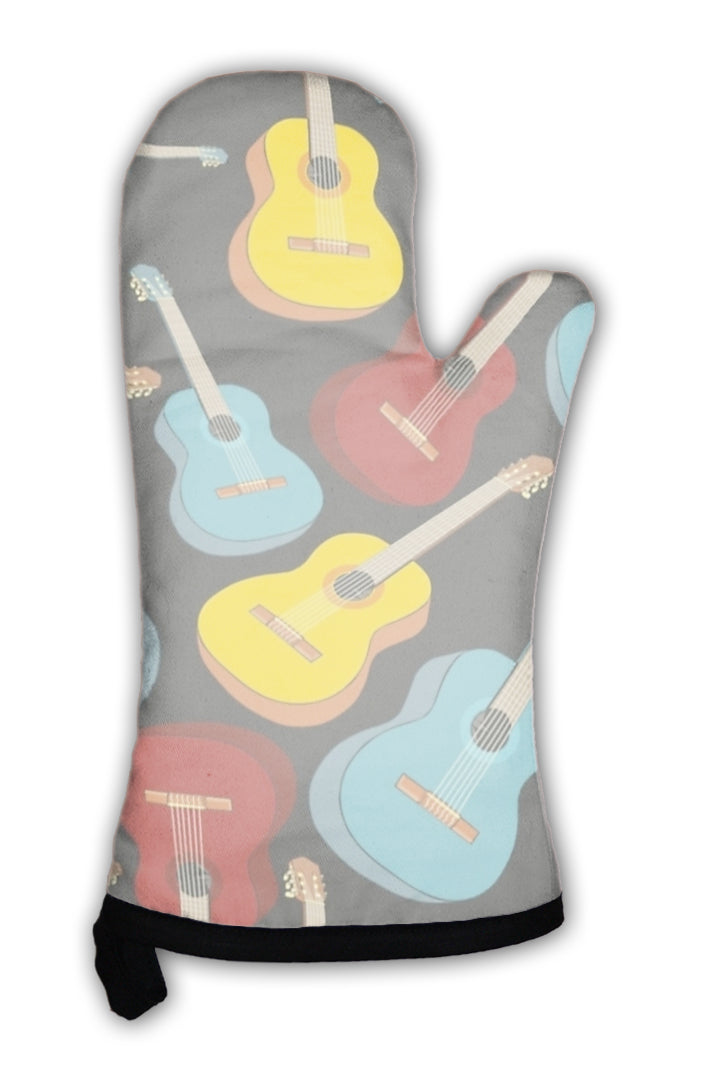 Oven Mitt, Pattern Isolated Guitars