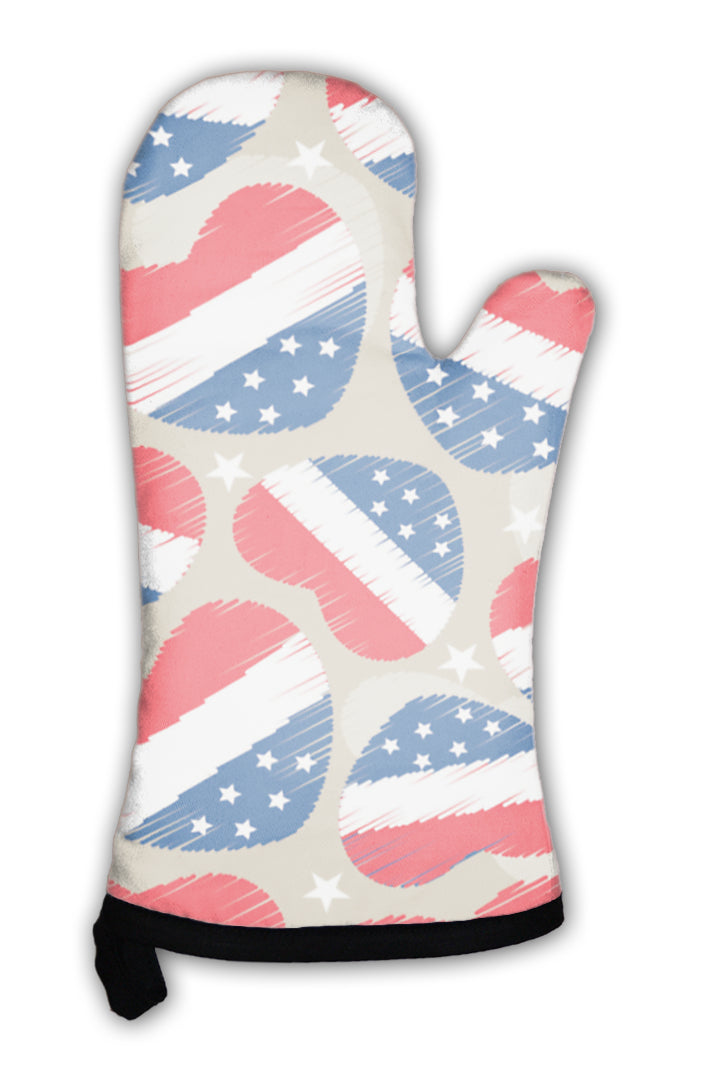 Oven Mitt, Pattern For 4th Of July American Independence Day