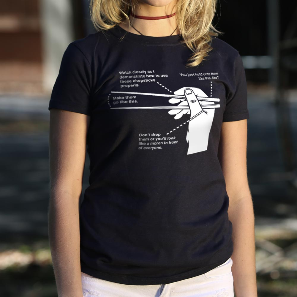 Chopsticks 101 T-Shirt (Ladies)