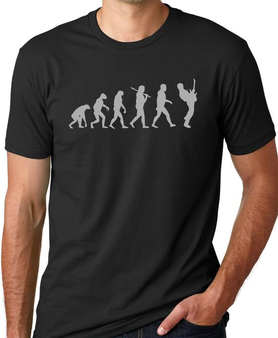 Guitar Player Evolution T shirt Musician t shirts