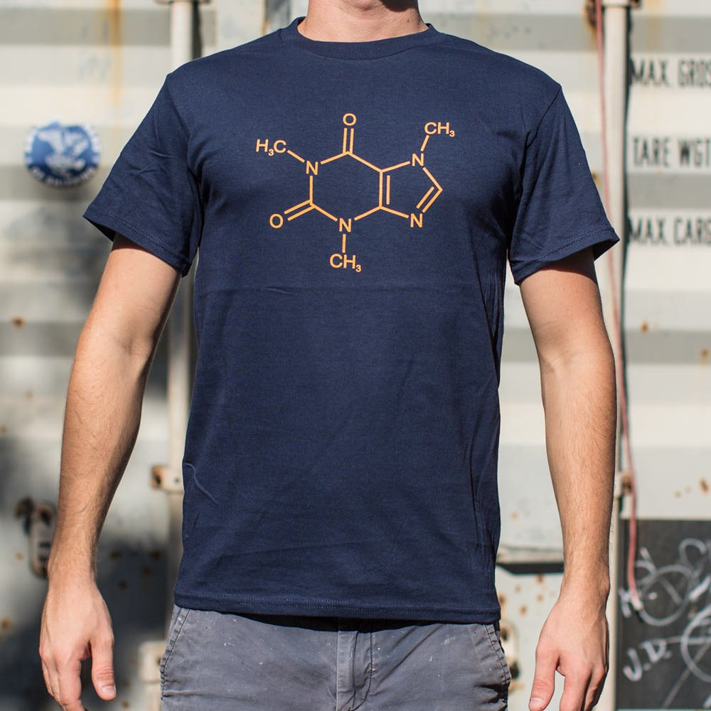Mighty Caffeine Molecule T-Shirt (Mens)