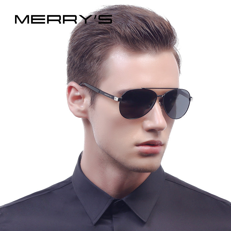 MERRY'S Men Classic Aviation Sunglasses HD Polarized Luxury Brand Design Aluminum Driving Sun glasses S'8628