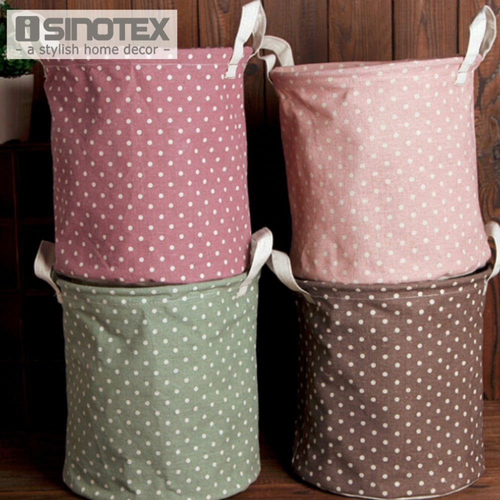 Dirty Clothes Laundry Basket Pouch Linen Washing Hamper Home Bag Housekeeping Use Bags Folding Toy Storage 23x26cm