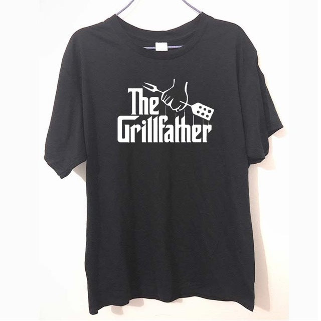 The Grillfather Gift For Dad Fathers Day BBQ Funny Men T Shirt Tshirt Fashion New O Neck Cotton T-shirt Tee Camisetas