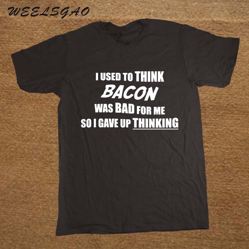 BACON SLOGAN PRINTED MENS T SHIRT FUNNY FOOD LOVE NOVELTY JOKE TSHIRT GIFT TOP