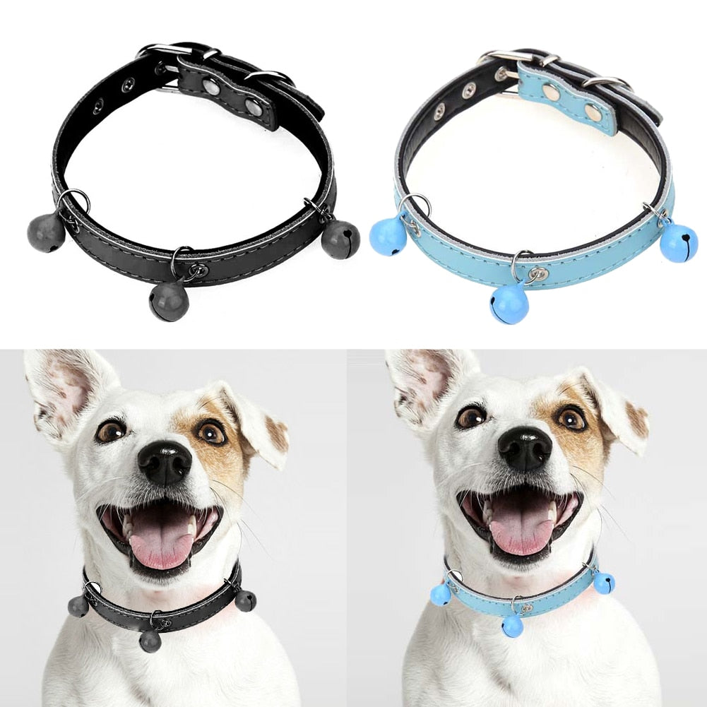 XS/S/M Crystal Jewelry Pet Cat Puppy Collar Adjustable PU Leather Pet Cat Kitten Neck Chain Belt