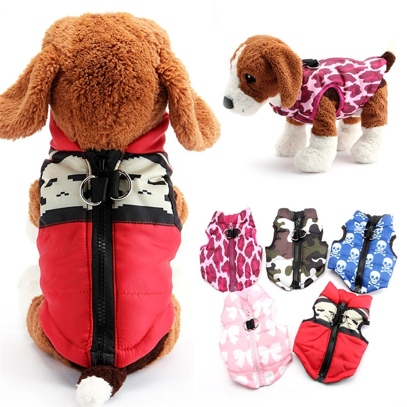 XS,S,M,L Pets Dogs Coat Jacket Pet Supplies Clothes Winter Apparel Clothing Puppy Costume cute ptint outwear
