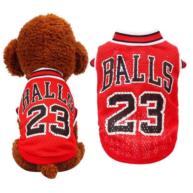 Summer Vest Small Dog Cat Dogs Clothing Cotton T Shirt Apparel Clothes No.23 Basketball Uniforms Dog Sportswear