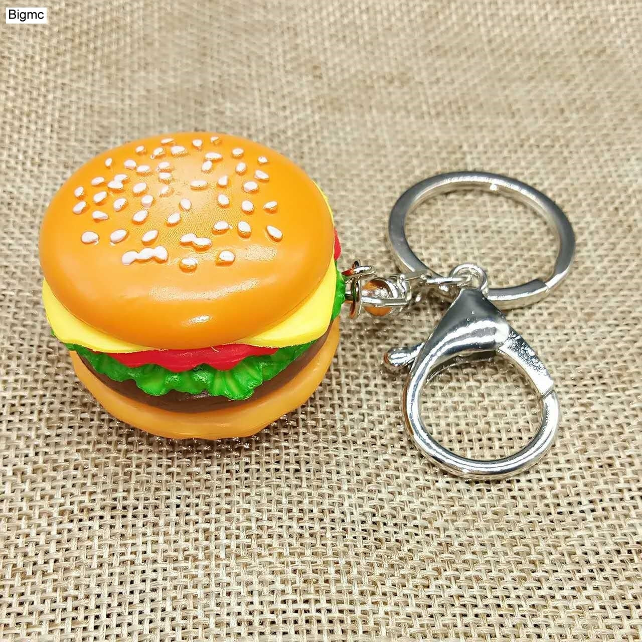 Hamburger Key Chain - Fashion Simulation Food Hamburger Pendant Key Ring Novelty Key Chain Business Birthday Gift Jewelry K1712