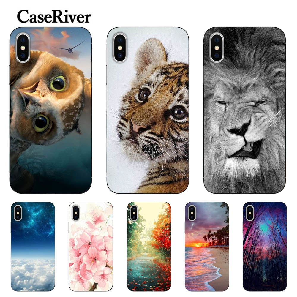 CaseRiver Soft TPU sFOR iPhone 5 5S SE 6 6S 7 8 Plus X Case Cover FOR Capa iPhone 5S Case FOR Capa iPhone 6S Case FOR iPhone 7