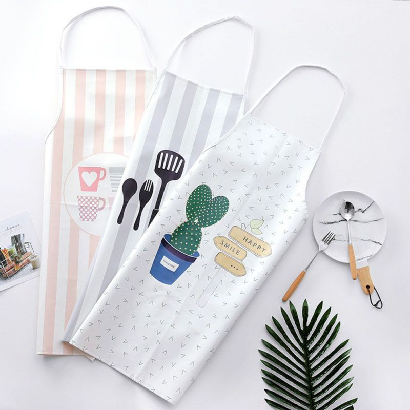 Barbecue Cooking Apron Adjustable Print Pattern Apron Chef Waiter Kitchen Apron With Pockets Polyester Halter Bib For Man Woman