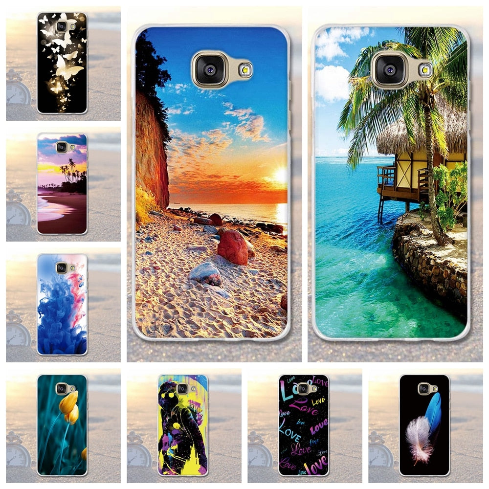 For Samsung Galaxy A5 2016 Case Scenery Pattern Soft TPU Cover For Samsung A5(2016) A510F A510 A510M A5100 Cell Phone Bags