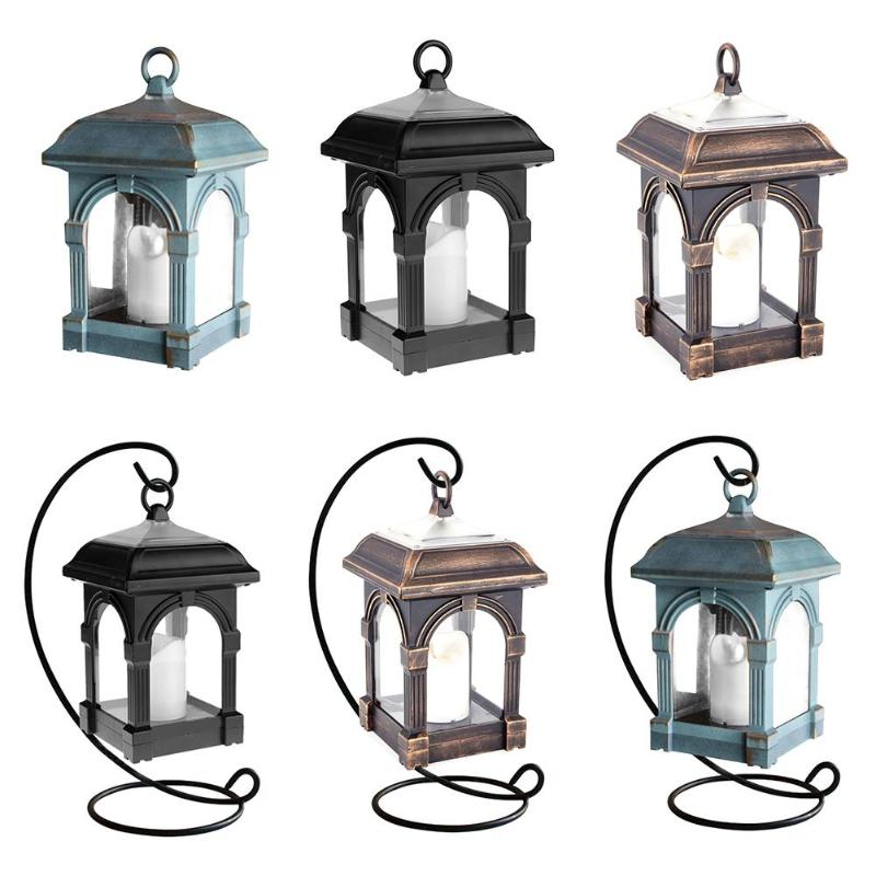 Candle Lantern Shape Solar LED Light IP44 Waterproof Outdoor Home Hang Lamp