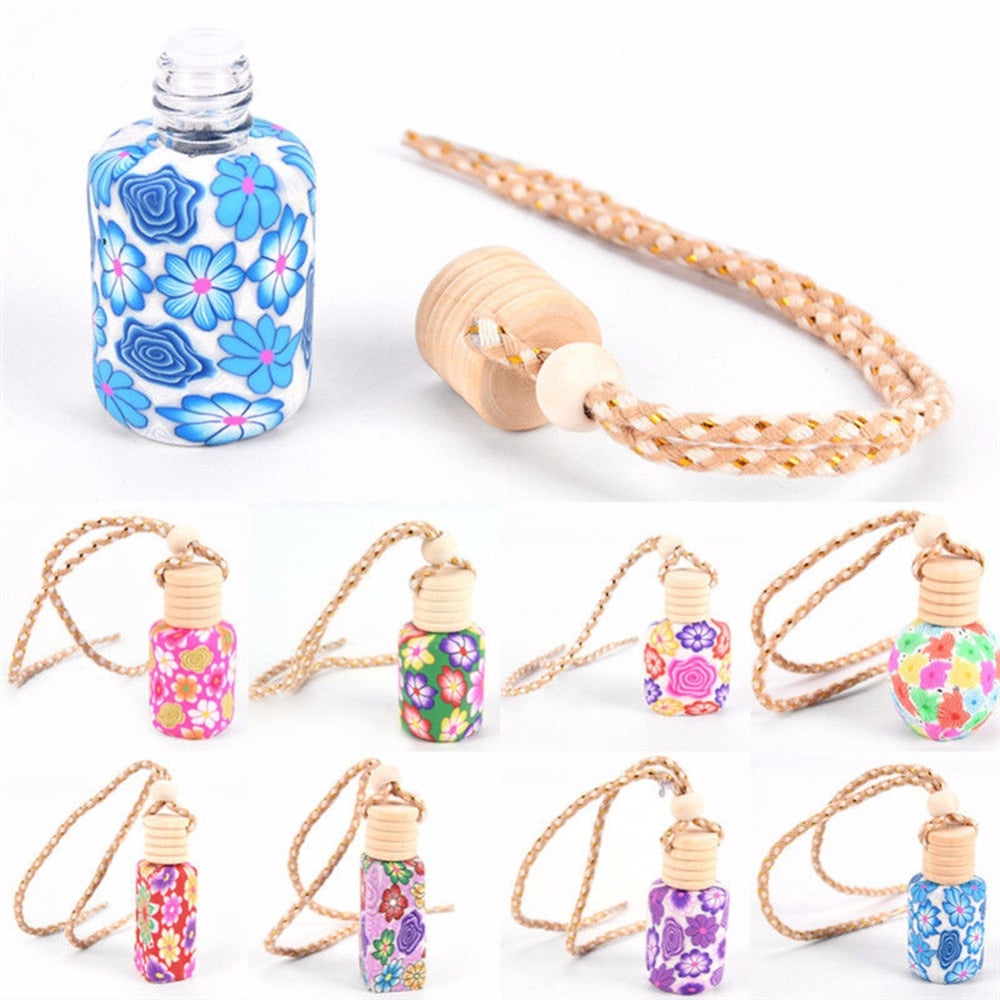 Auto Car Interior Accessories 12ml Hanging Drop Empty Car Truck Perfume Bottle Diffuser Air Freshner Fragrance Mini Ornaments