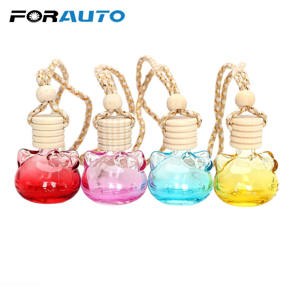 FORAUTO Air Freshner Perfume Diffuser bottle Bathroom Hanging pendant Car Rear View Mirror Car Hanging Ornament