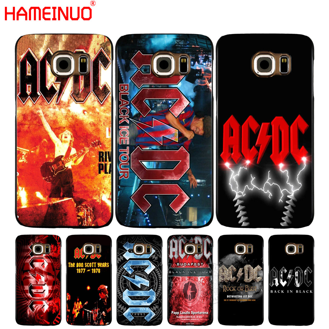 HAMEINUO Ac Dc Black ice Heavy Metal Music Band cell phone case cover for Samsung Galaxy A3 A310 A5 A510 A7 A8 A9 2016 2017 2018