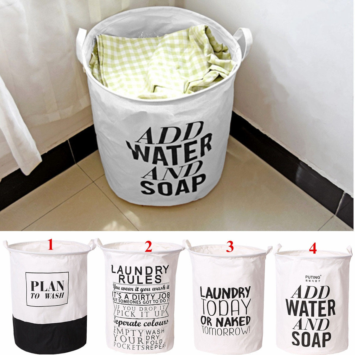 Folding Linen Washing Clothes Laundry Basket Organizer Kid Toy Large Capacity Handbag Laundry Hamper Dirty Large Bag 39X49cm