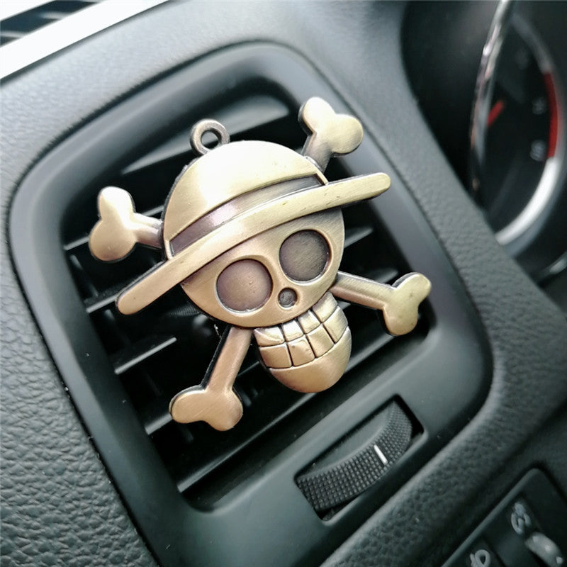 Cartoon Air Freshener Clip Car Styling Perfume For Air Condition Vent The One Piece Luffy Straw hat pirate sign Fans D3