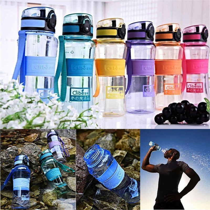 Portable 600ML Water Bottle Sport Fruit Infuser Juice Lemon Drinking Bottles For Outdoor Bicycle Cycling Sports Gym BPA Free