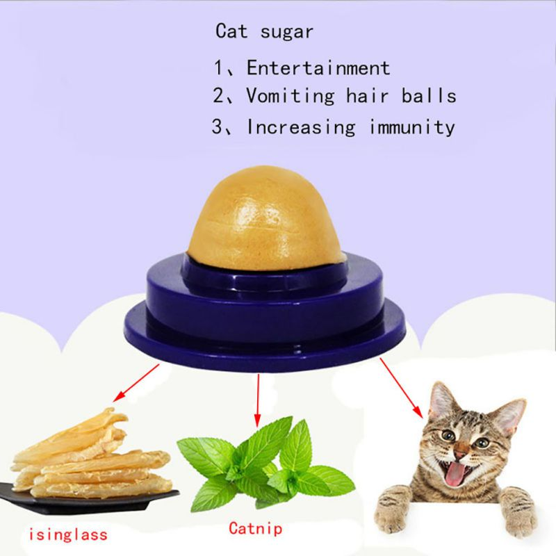 Long-Term Consumption Effect Cat Mint Sugar Cat Cream Nutrition Cat Healthy Snack Toys Candy Licking Solid Nutrition Energy Ball