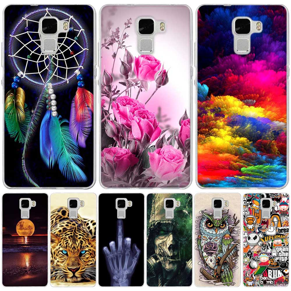 3D Relief Printing Case For Huawei Honor7 Honor 7 Soft TPU Silicone Coque Case for Huawei Honor 7 Cell Phone Case Cover