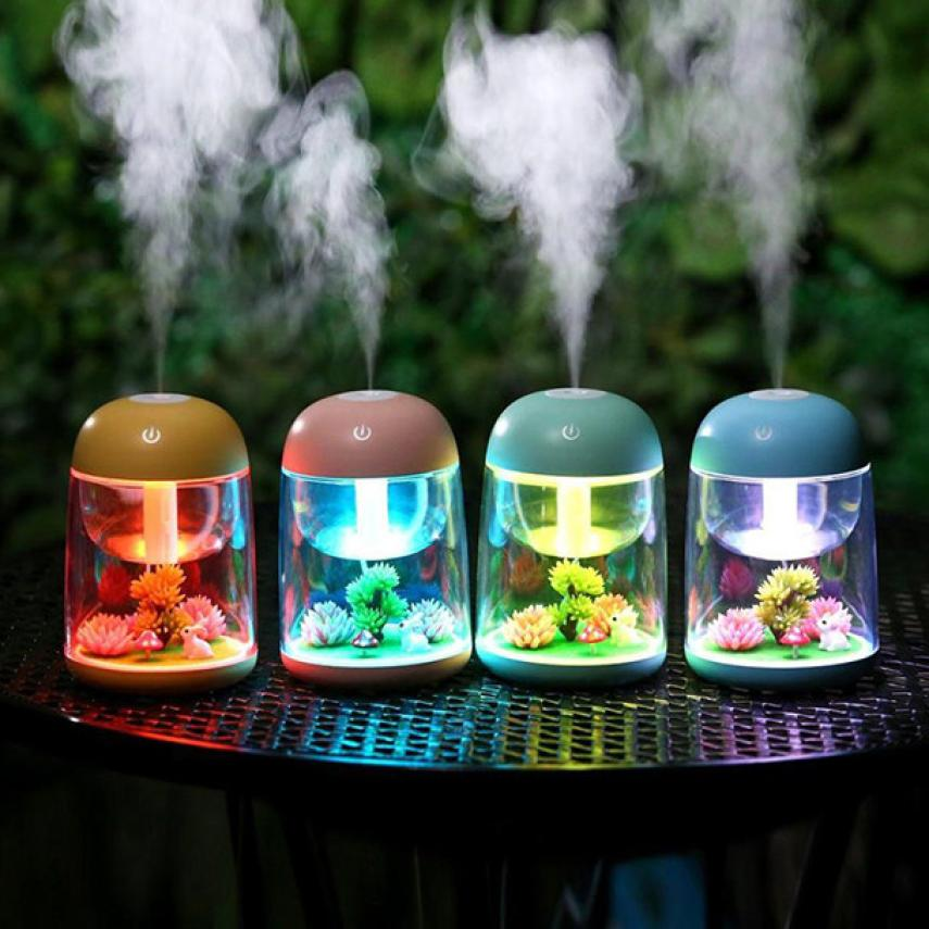 2018 New Humidifier Usb Landscape Lamp Essential Oil Diffuser Night Light Decoration AP6