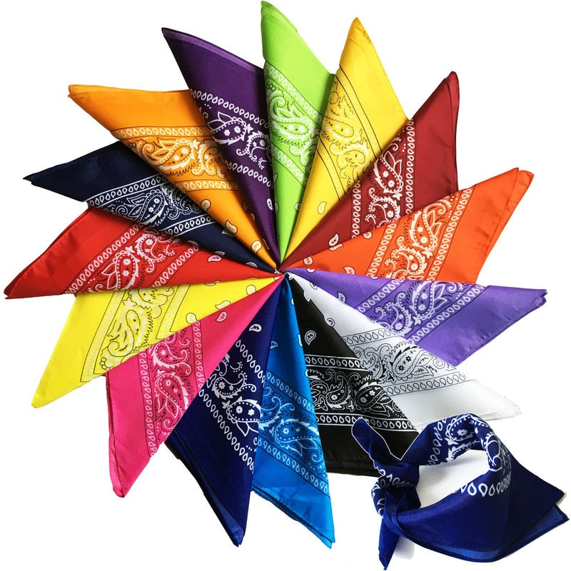 Men's Bicycle Bandana Scarf Face Mask Headscarfs Cotton Paisley Bandana Double-sided Head Wrap Bandana Scarf Wristband for Women
