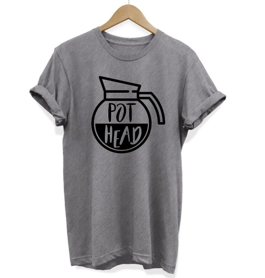 Coffee Pot Head Print Women tshirt Cotton Casual Funny t shirt For Lady Girl Top Tee Hipster Drop Ship Y-100