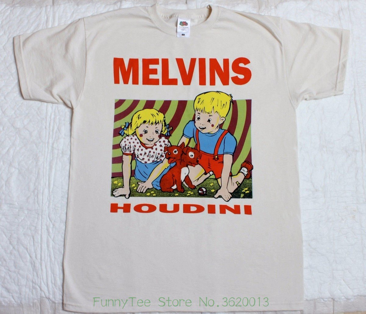 Melvins Houdini Sludge Metal Stoner Rock Fantomas Natural Color T-shirt