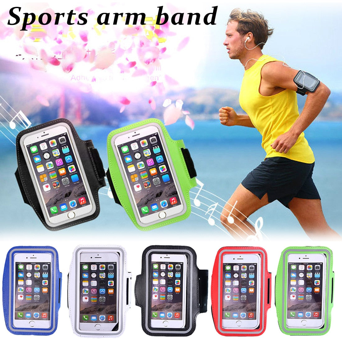 For iPhone X 8 7 6 6s Sports Running Arm Band Cell Phone Holder Pouch Case For Apple iphone 6 7 8 Plus Cover Phone Cases